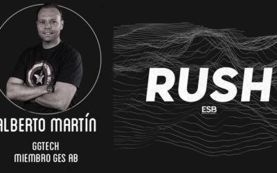 Alberto Martín comenta en el RUSH Podcast el estado de las competiciones organizadas por GGTech en el sector educativo